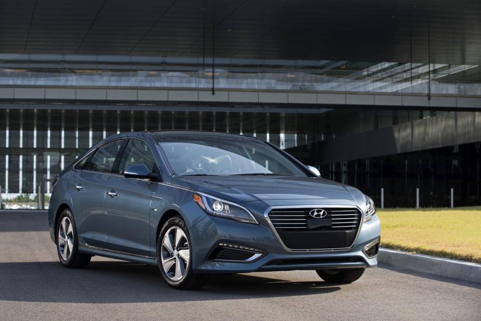 Blue 2016 Hyundai Sonata Hybrid
