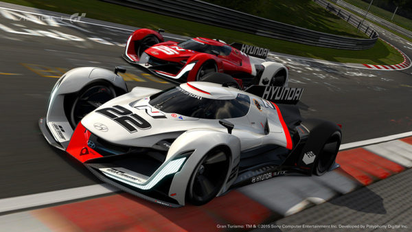 Hyundai N Vision 2025 Gran concept car racing in Gran Turismo 6 video game