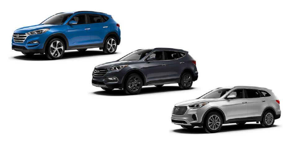 Hyundai Tucson, Santa Fe, and Santa Fe Sport