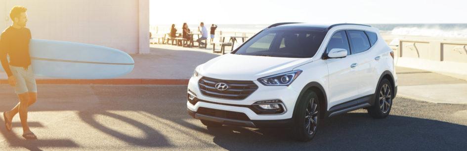 white 2017 Hyundai Santa Fe