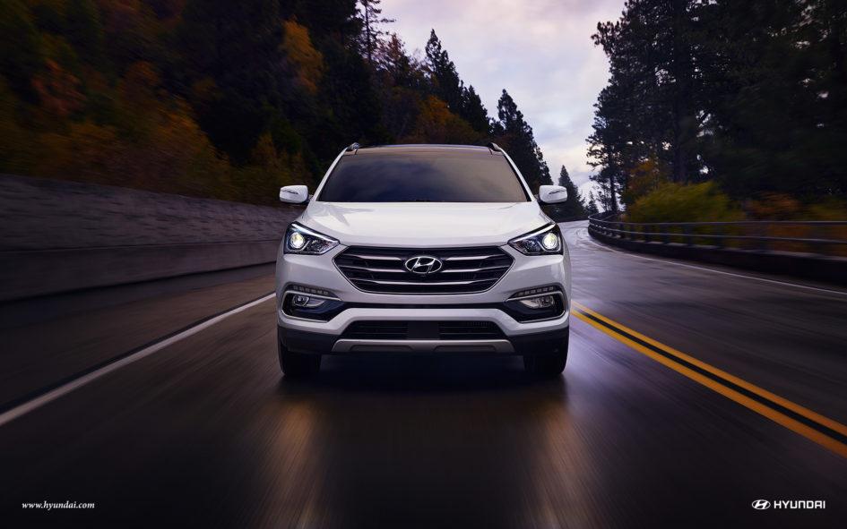 2018 Hyundai Santa Fe Sport front fascia